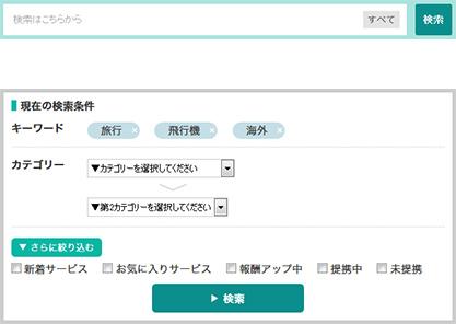 A8.net セルフバック 検索