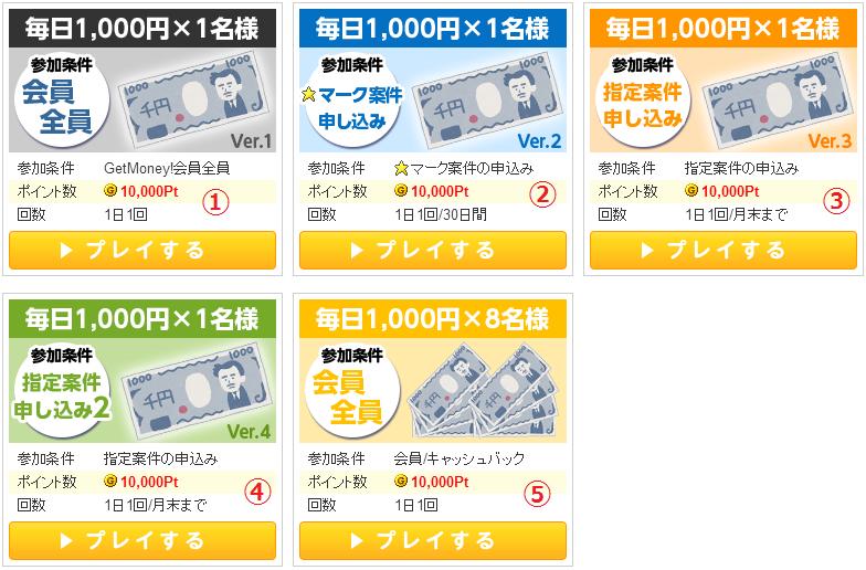 ゲットマネーの『毎日1,000円』