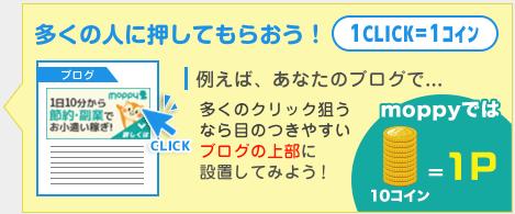 モッピーのクリックキャンペーン